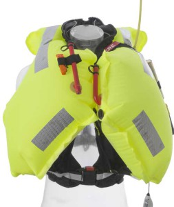 inflated solas lifejacket