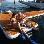 Nautibuoy swimming platform